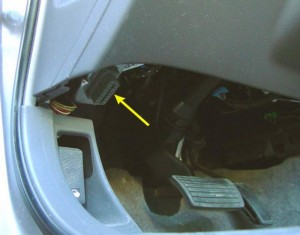Some vehicles will have the OBD port visible. Some are hidden behind the dash.